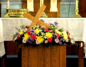 Flowers with Cross